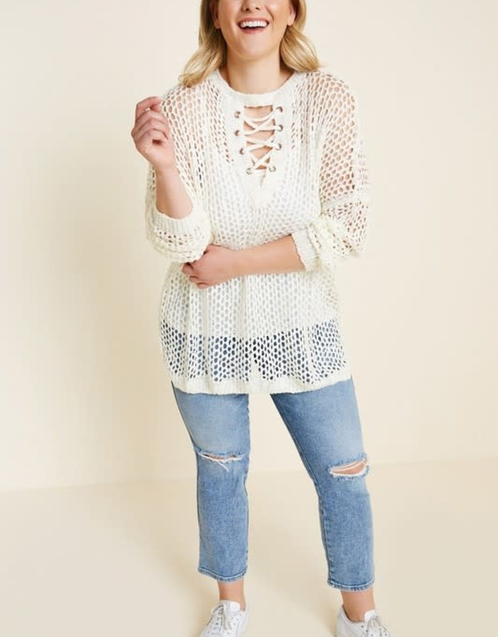 Oleanders Boutique White Long Sweater