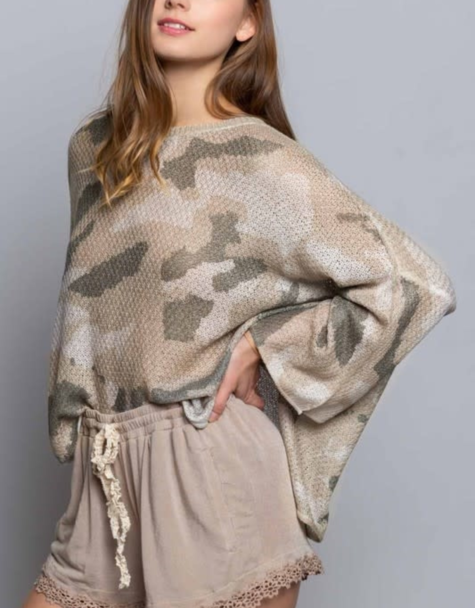 Oleanders Boutique Camo oversized sweater
