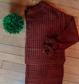Oleanders Boutique Mahogany high low knit