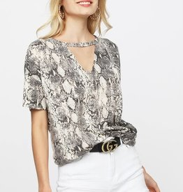 Oleanders Boutique Snakeskin with keyhole cutout