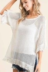 Oleanders Boutique Luxe fringed sweater