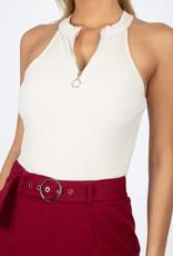 Oleanders Boutique Half zip bodysuit