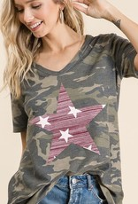 Oleanders Boutique Camo with star top