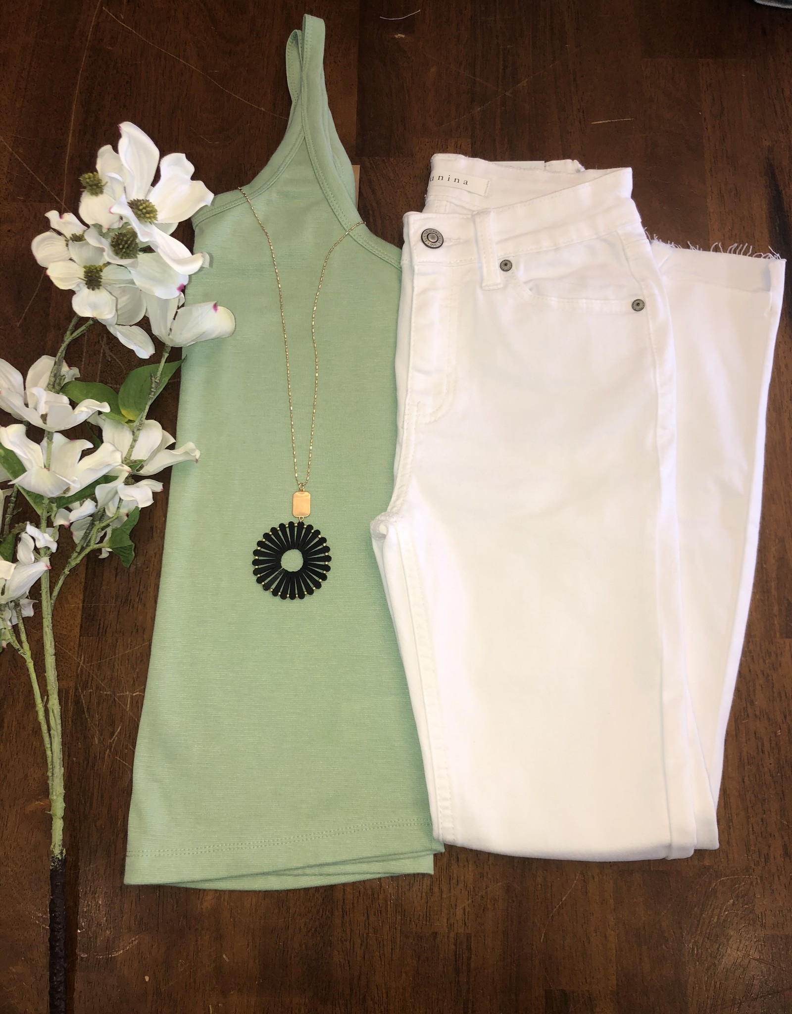 Oleanders Boutique Clara High Rise Skinny White