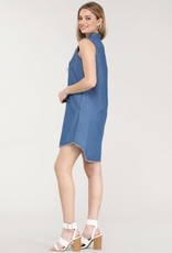 Oleanders Boutique Sleeveless denim button up dress