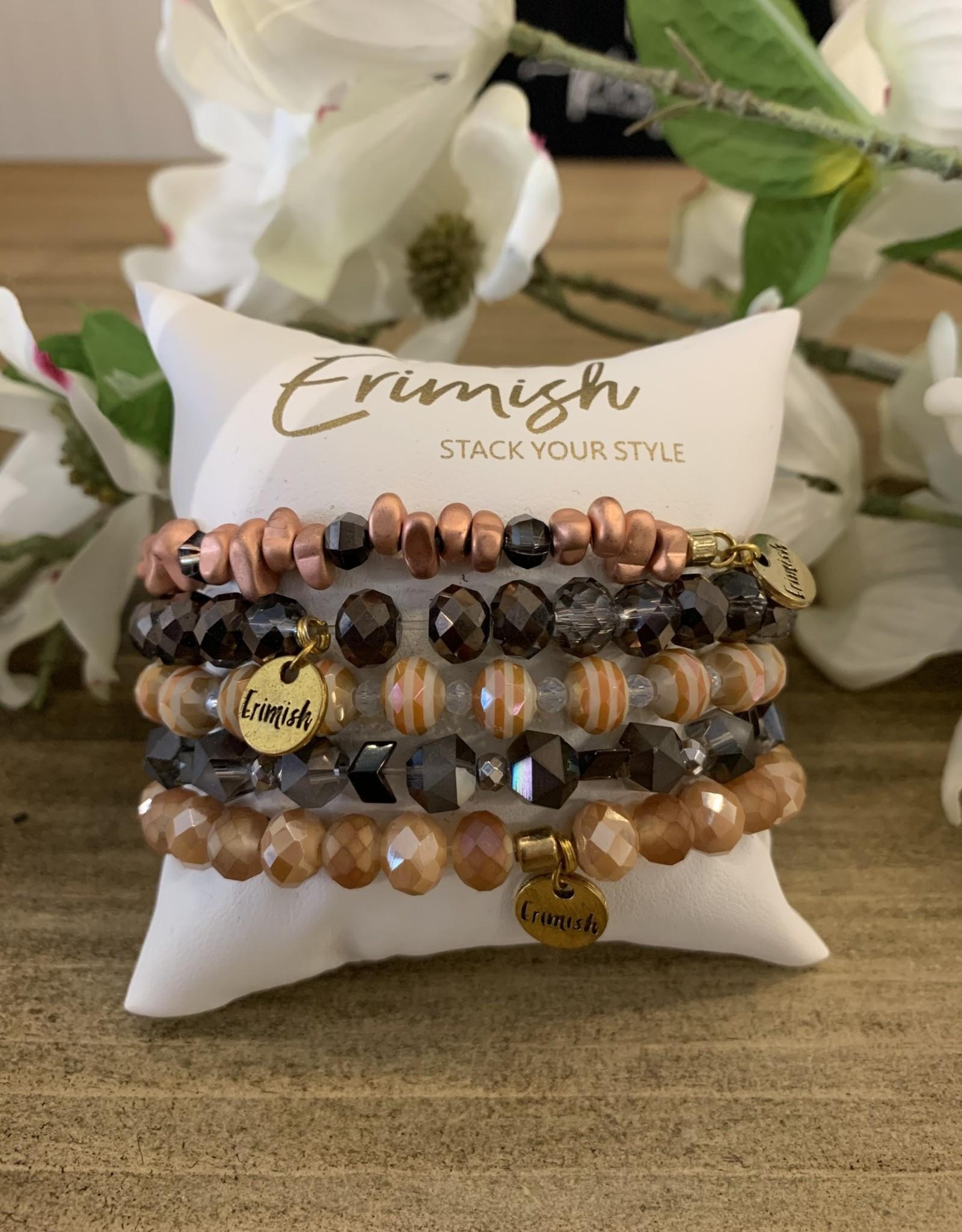 Oleanders Boutique Peach/charcoal set