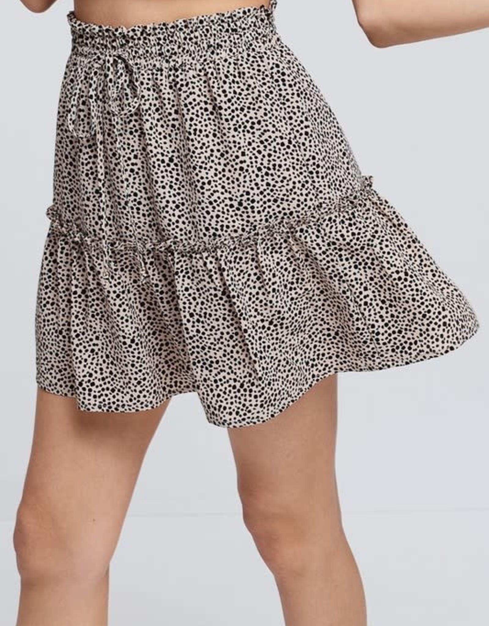 Oleanders Boutique Mocha animal print skirt
