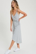 Oleanders Boutique Striped wrap dress