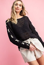 Oleanders Boutique criss cross arm thin sweater