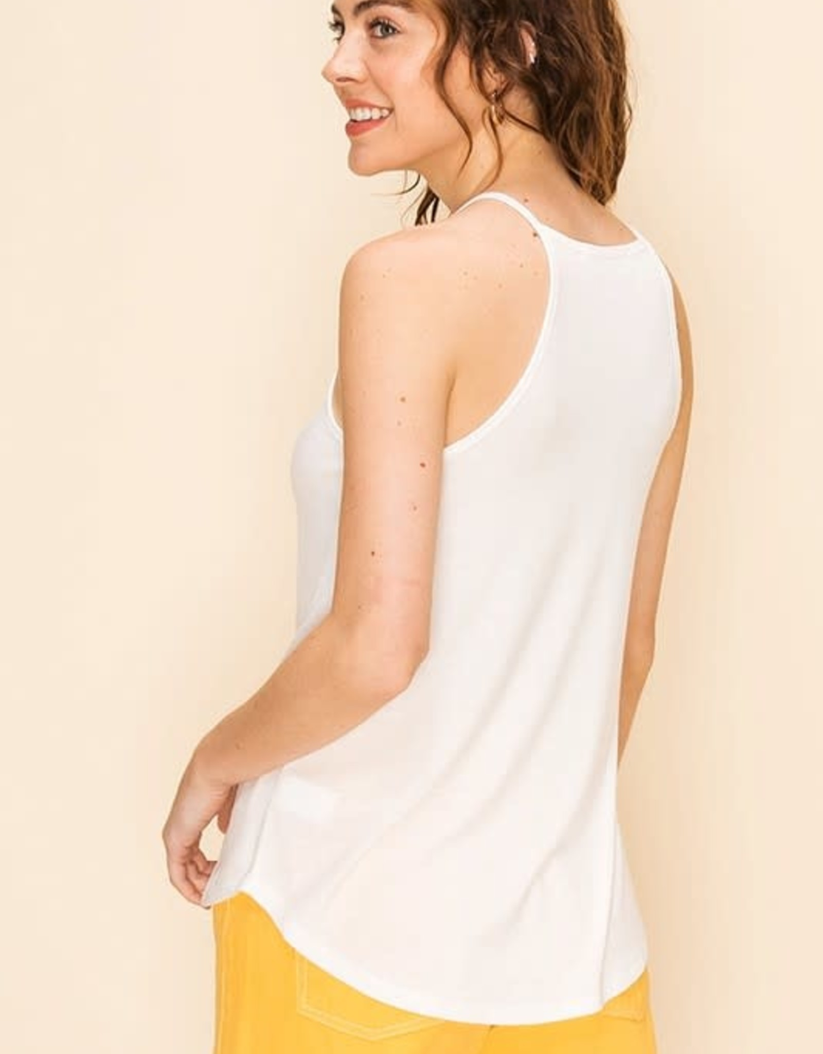 Oleanders Boutique High neck silky tank