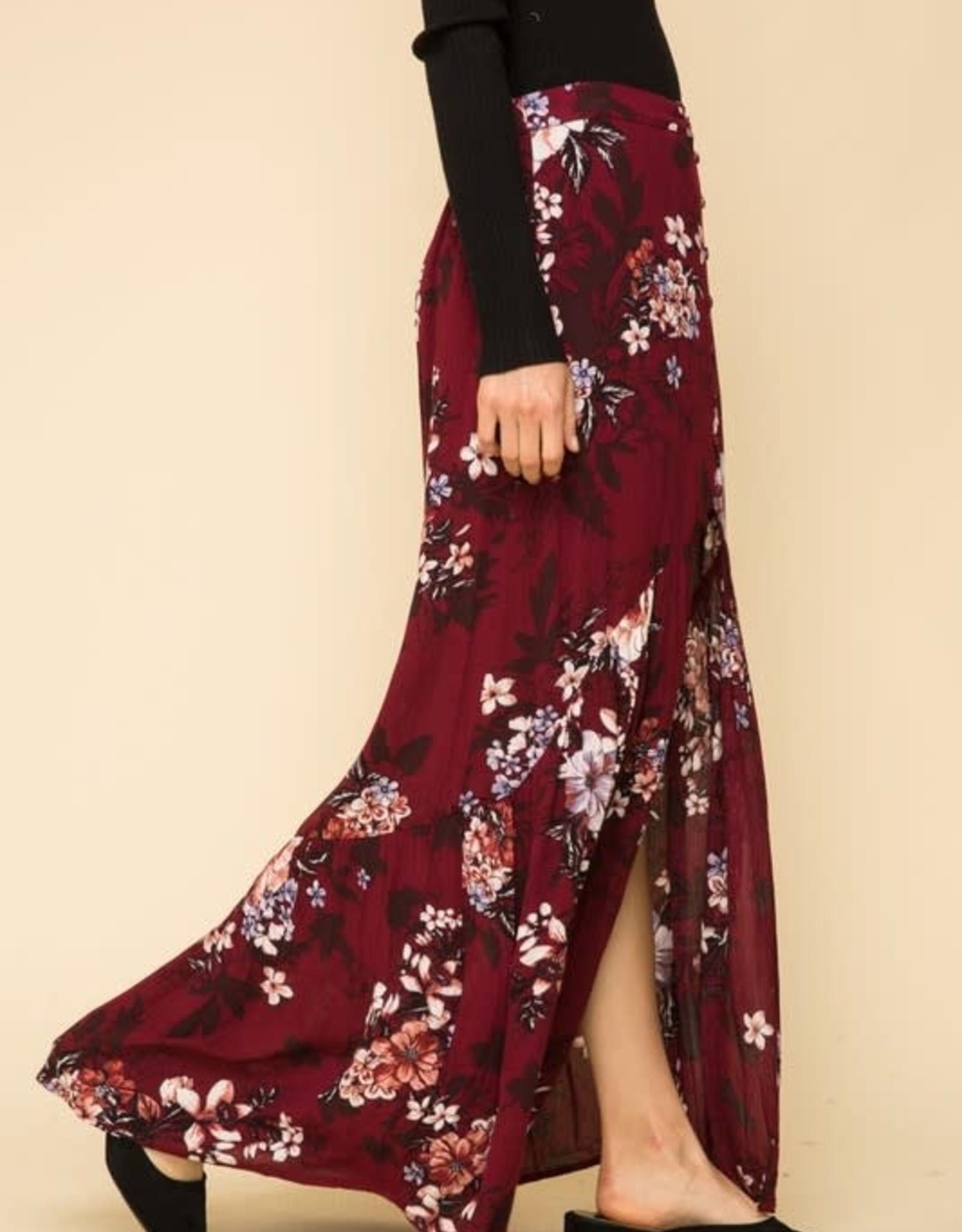 Oleanders Boutique Floral maxi skirt