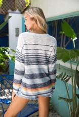 Oleanders Boutique Multi striped color sweater