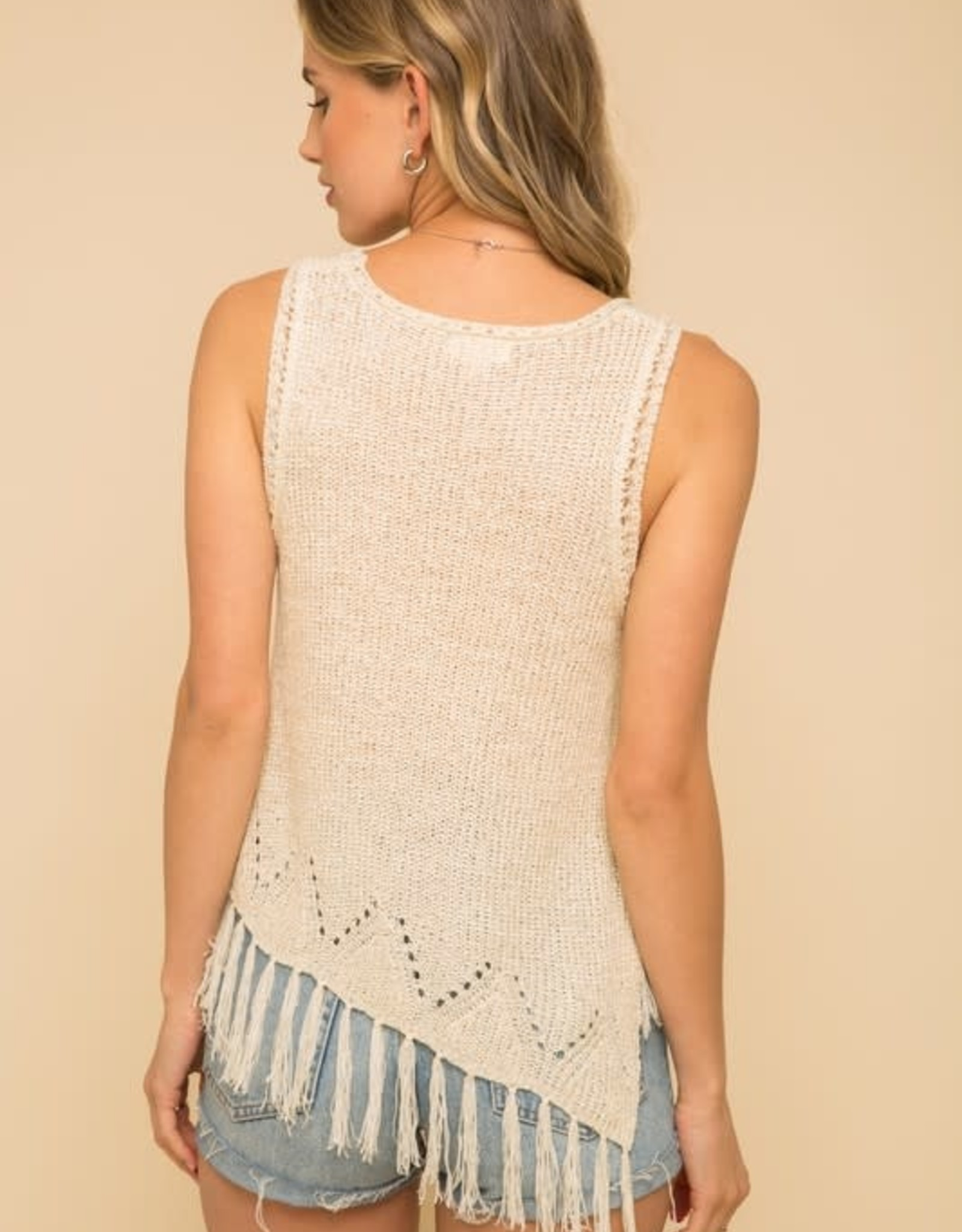 Oleanders Boutique Asymmetrical sweater tank