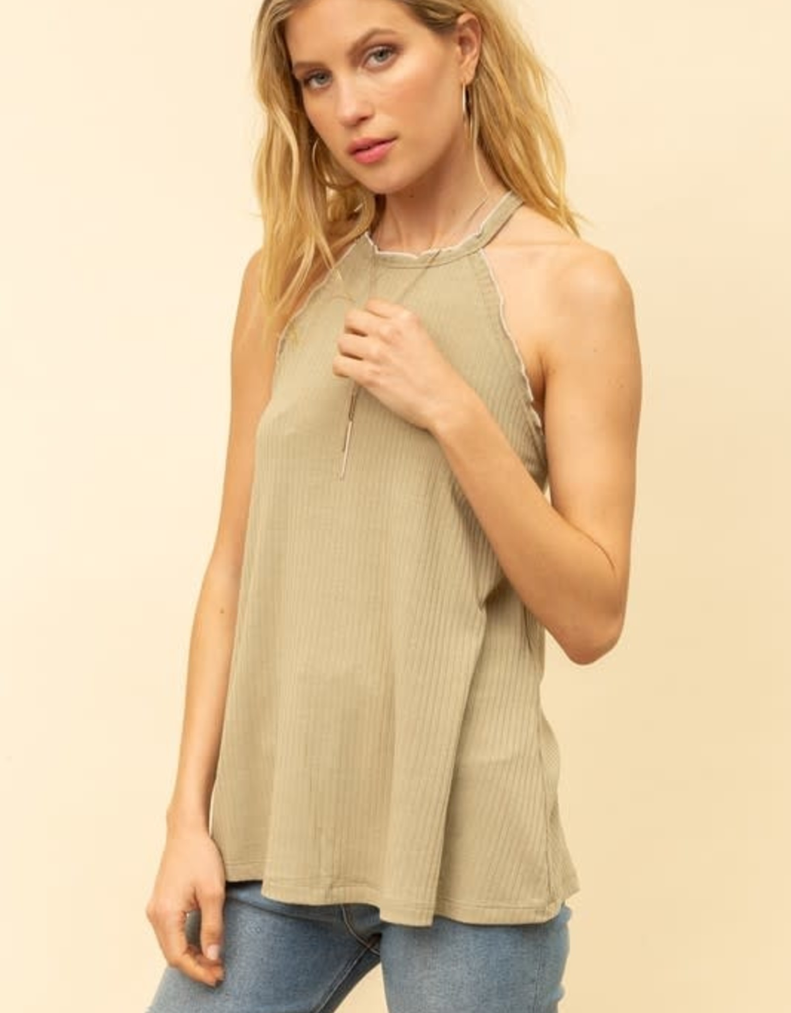 Oleanders Boutique Sitched high low tank