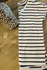 Oleanders Boutique Black & White Stripe Tee