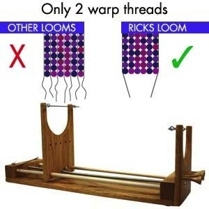 KNIT The Ricks Beading Loom - The Two Wrap Loom