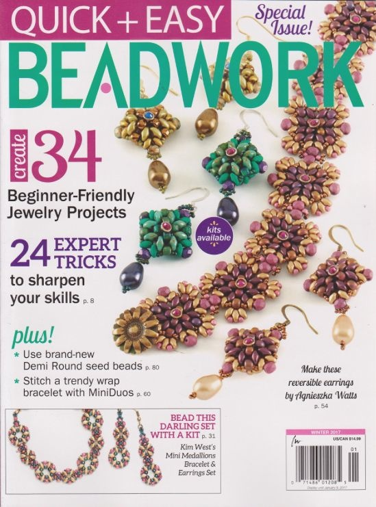 Magazines & Books Beadwork Quick & Easy - 2017 01 Winter