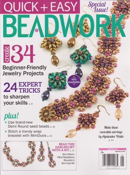 Magazines & Books Beadwork Quick & Easy - 2017 01 Winter