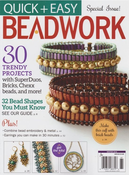 Magazines & Books Beadwork Quick & Easy - 2016 01 Winter