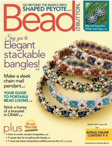 Magazines & Books Bead & Button - 2017 08 August