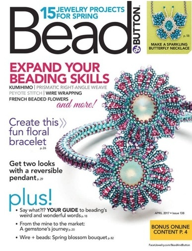 Magazines & Books Bead & Button - 2017 04 April