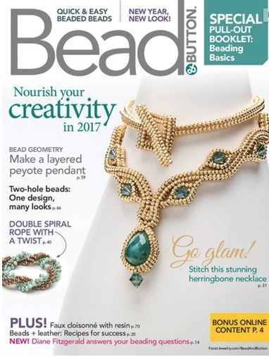 Magazines & Books Bead & Button - 2017 02 February