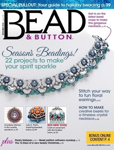 Magazines & Books Bead & Button - 2016 12 December