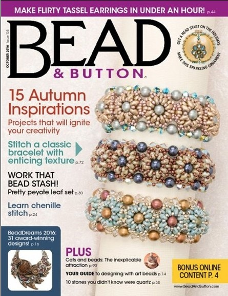 Magazines & Books Bead & Button - 2016 10 October