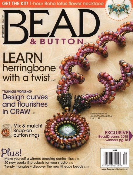 Magazines & Books Bead & Button - 2015 10 October