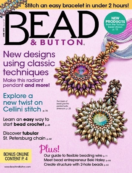 Magazines & Books Bead & Button - 2015 06 June