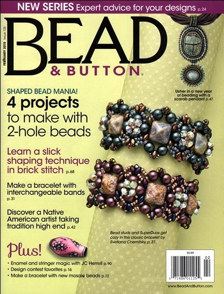 Magazines & Books Bead & Button - 2015 02 February