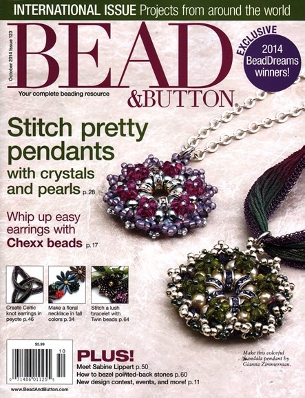 Magazines & Books Bead & Button - 2014 10 October