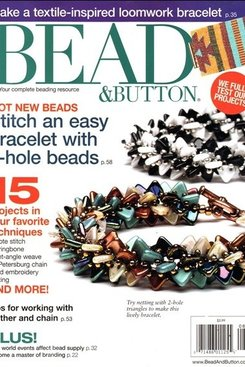 Magazines & Books Bead & Button - 2014 08 August