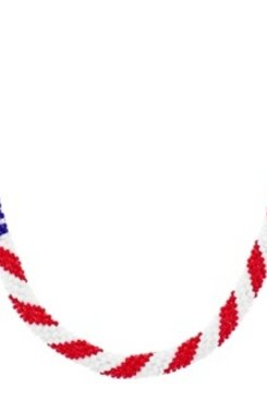 America the Beautiful Necklace Kit - Seed Beads