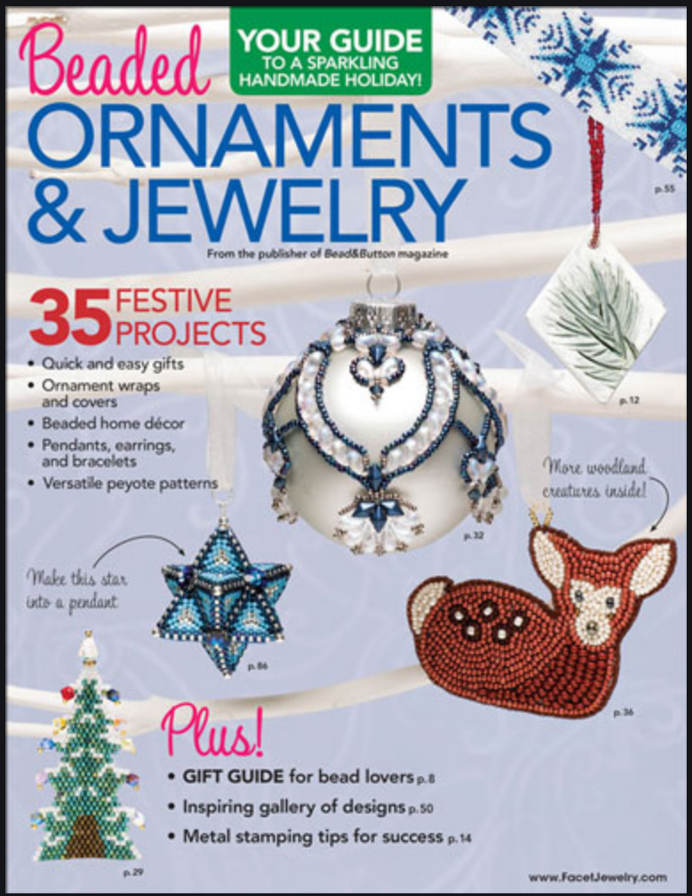 Magazines & Books Bead & Button - 2017 Beaded Ornaments & Jewelry