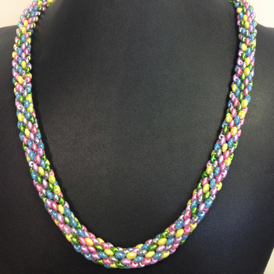 Classes 1/12 6-9pm Delightful Duos Necklace Class Instruction - Karen Ebert