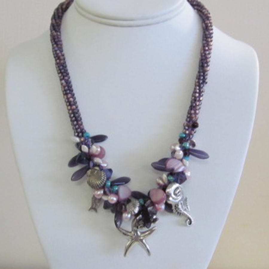 6/22 6-9pm Under the Sea Necklace Instruction - Gail Bloom