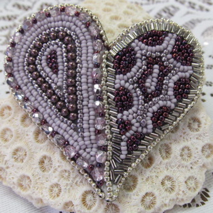 Classes 09/16 2-5pm Bead of My Heart Pin Instruction