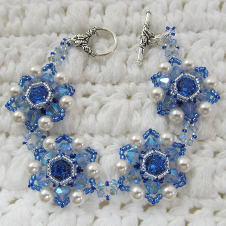 2/15 2-5pm Crystal Blossoms Bracelet - Gail Bloom