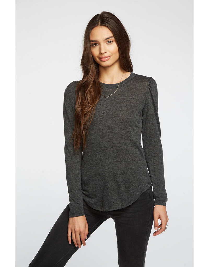 chaser chaser puff sleeve shirttail tee