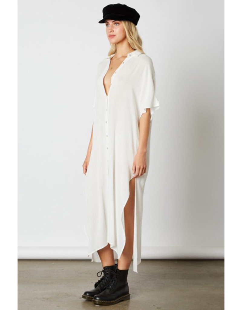 cotton candy cotton candy button up midi ss shirt dress