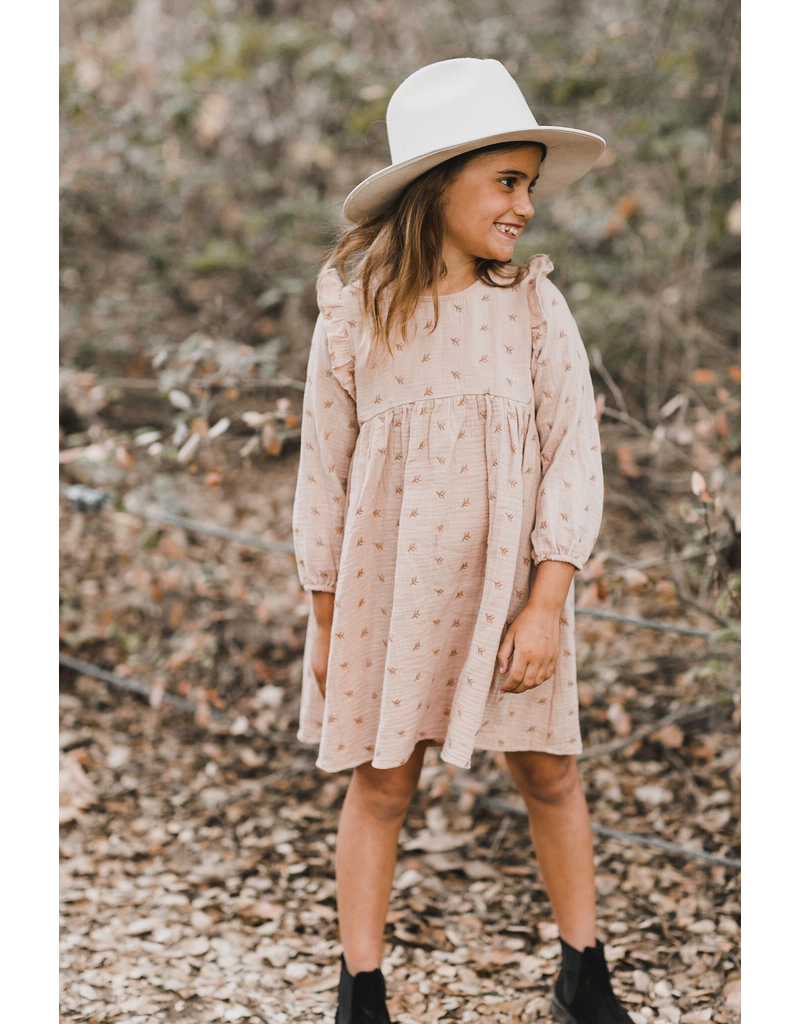 rylee cru rylee + cru leaf embroidered piper dress