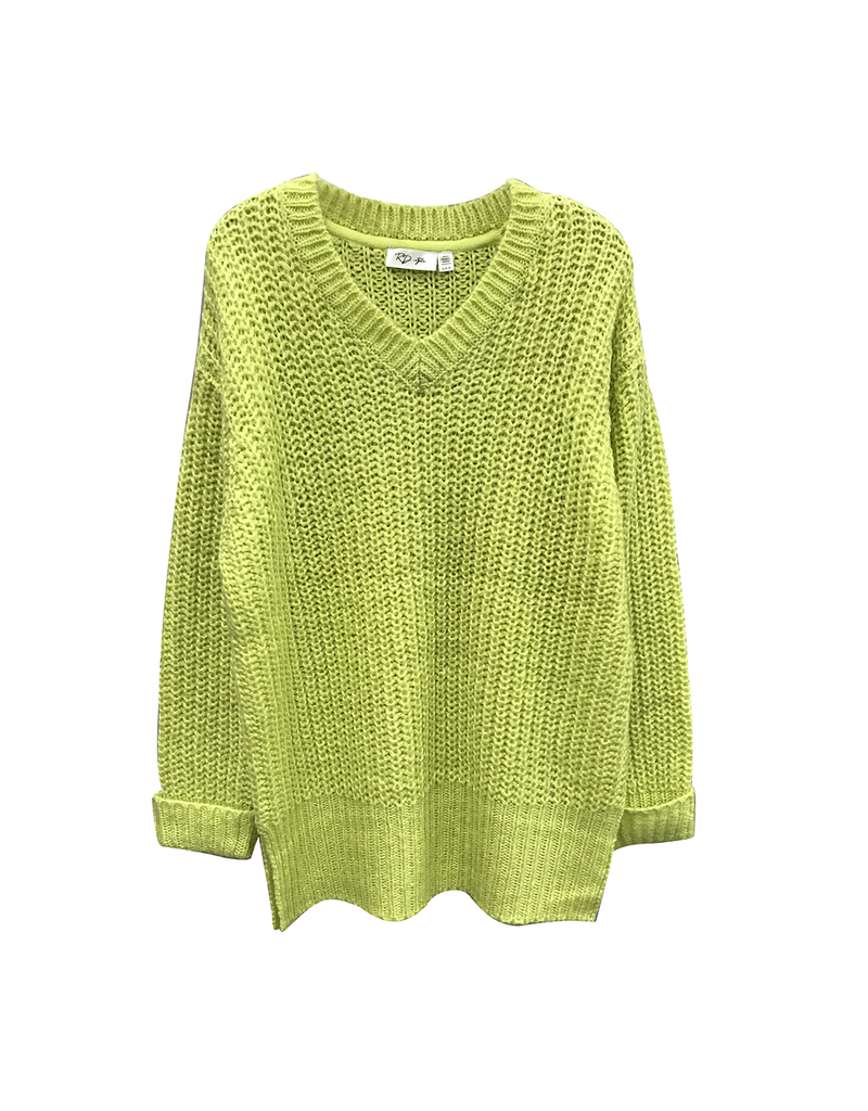 rd style rd style open knit vneck sweater