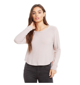 chaser chaser semi cropped pullover high/low