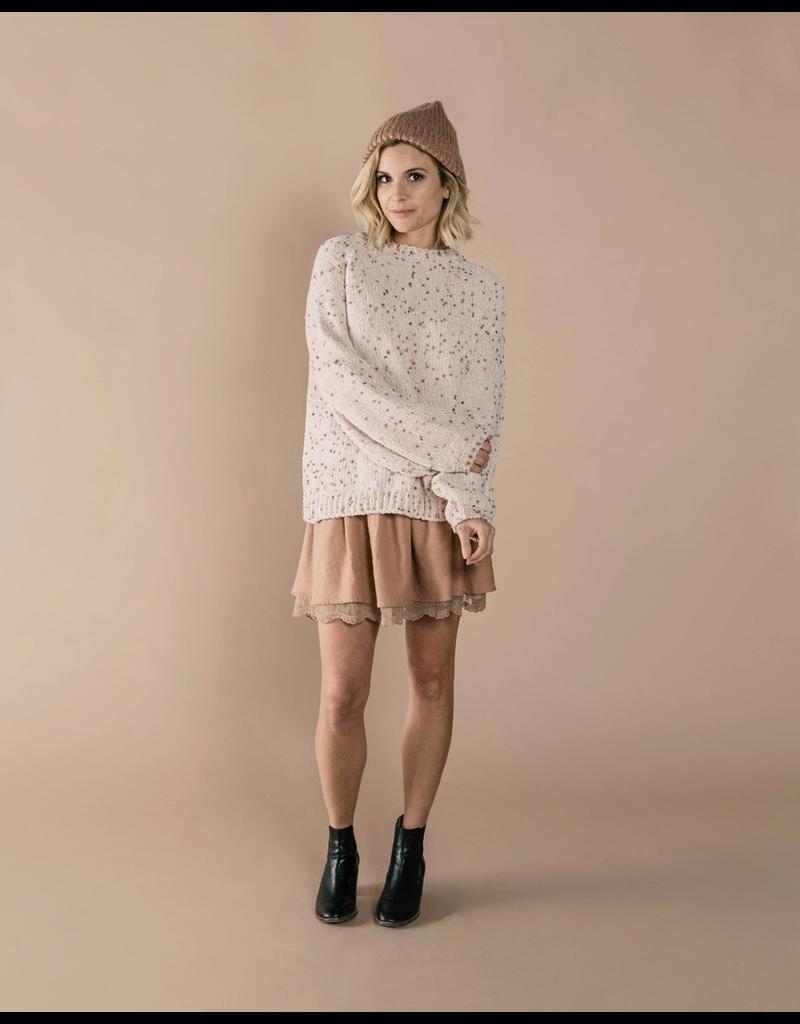 rylee cru rylee + cru womens pom chenille sweater