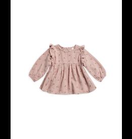 rylee cru rylee + cru piper blouse leaf embroidered