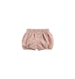 rylee cru rylee + cru leaf embroidered shorts