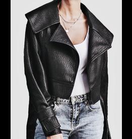 flight lux regenbogen faux leather jacket