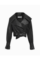 flight lux regenbogen faux leather jacket