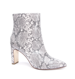 chinese laundry chinese laundry erin snake bootie with rectangle heel